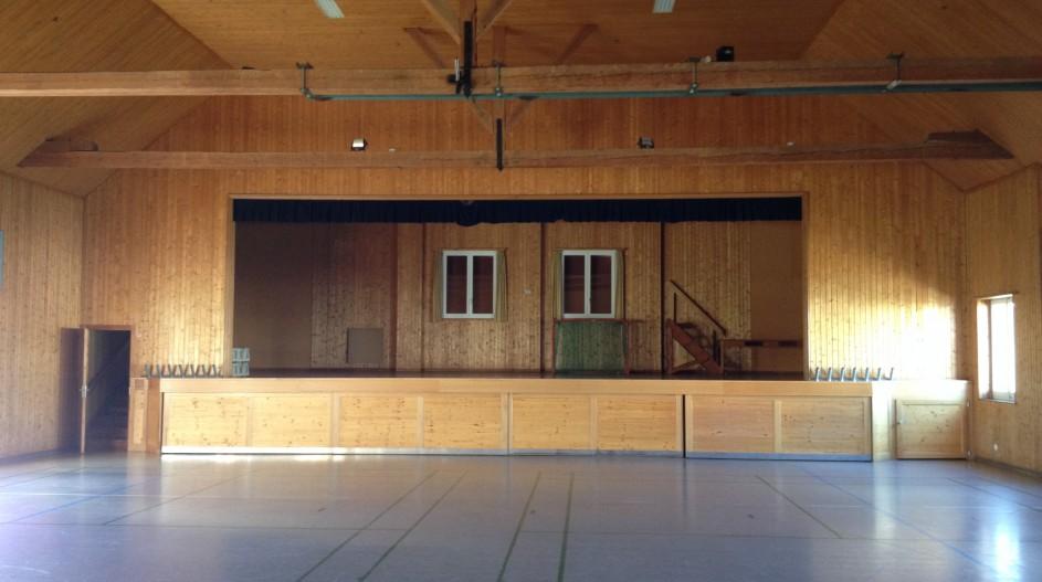 Intérieur de la grande-salle avant transformation